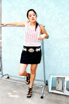 top - American Apparel skirt - belt - Cathy Jean shoes