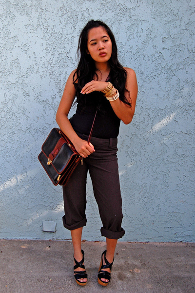 Express shirt - forever 21 pants - purse - Steve Madeden shoes