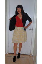 blazer - shirt - skirt