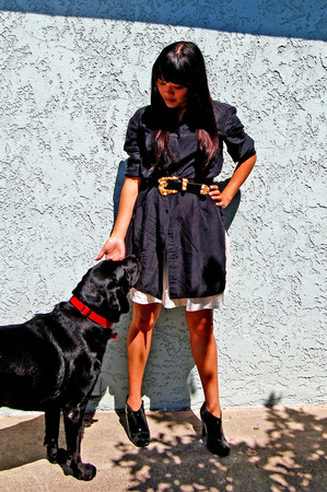 dress - belt - Urban Outfitters skirt - payless shoes