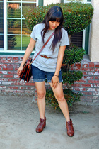 Lux shorts - Prediction shoes - Rina Rich purse - merona shirt