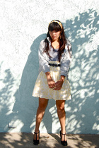 American Apparel shirt - thrifted jacket - Tahari shoes - Gap skirt