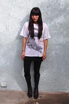 shirt - American Apparel skirt - DSW shoes
