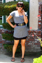 Rogan dress - belt - Old Navy skirt - shoes