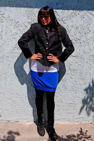 jacket - H&M shirt - Old Navy skirt - Bakers shoes