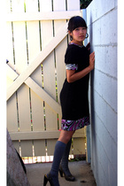dress - forever 21 socks - Kenneth Cole shoes