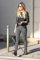 Zara jeans - Chloe boots - leather La Canadienne jacket