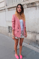 espadrilles asos shoes - Mango blazer - Zara shorts - H&M top