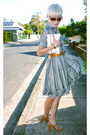 Patent-leather-wittner-shoes-striped-frilled-vintage-dress