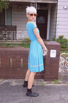 vintage dress - vintage shoes - vintage bag - vintage sunglasses