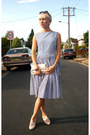 Navy-vintage-dress-white-leather-shoes-vintage-shoes