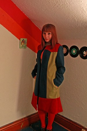 colorblock Burda coat