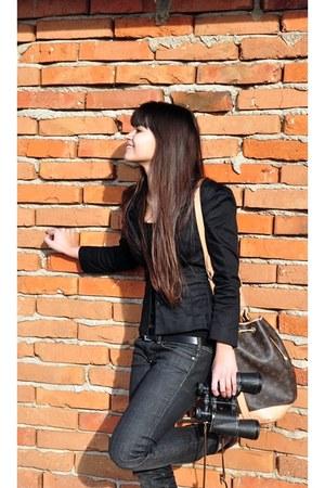 H&M blazer - Ralph Lauren jeans - Louis Vuitton bag - REPLAY belt