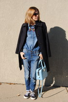 blue united colors of benetton jeans - navy JCrew coat