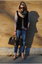 dark brown Anthropologie vest