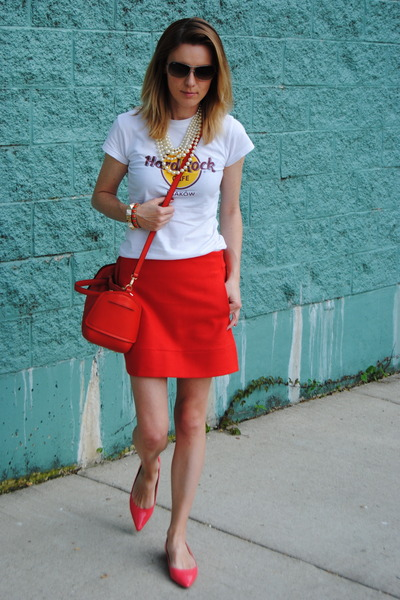 3b163207c2 Red JCrew Skirts, Red Furla Bags |