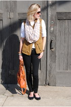 tawny JCrew jacket - peach Express scarf