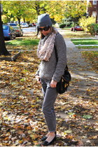 heather gray JCrew pants - heather gray TJ Maxx top