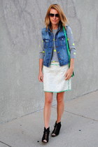 navy JCrew jacket - green JCrew bag