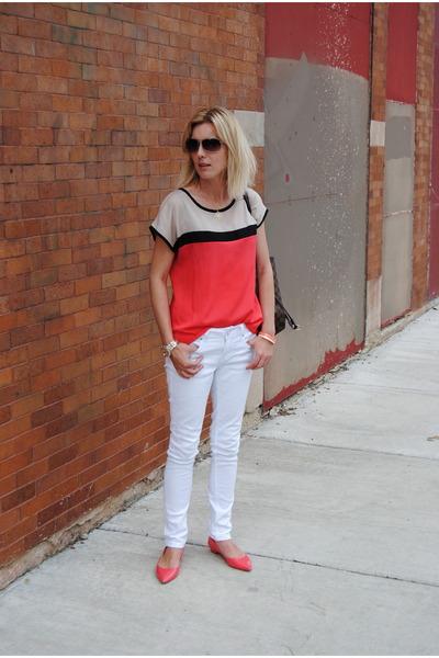 white Marshalls jeans