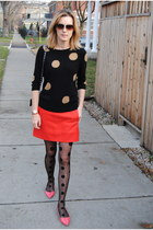 red JCrew sweater