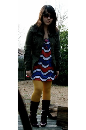 BB Dakota jacket - lux uo dress - HUE tights - Nine West