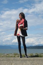 talula babaton blazer - wilfred top - Guess - Celine shoes - scarf - thrifted