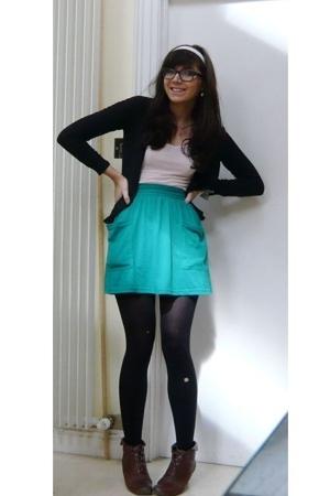 American Apparel skirt - H&M top - Zara sweater
