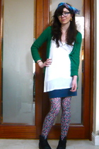 American Apparel skirt - Topshop sweater - Primark vest - vintage accessories -