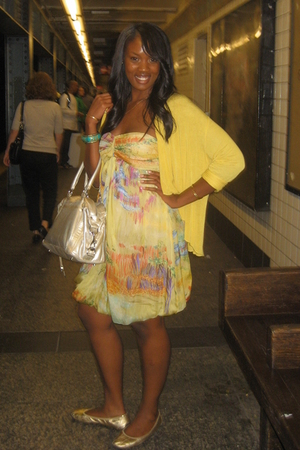 Zara dress - Zara jacket - Rebecca Minkoff purse - Me Too Shoes shoes