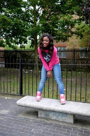 H&M Kids jumper - Primark jeans - high-tops Reebok sneakers