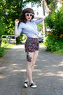 Bubble-gum-floral-xhiliration-shorts-black-saddle-payless-shoes