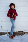 Brick-red-urban-outfitters-jacket-light-blue-h-m-kids-jeans-camel-kensie-boo