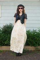eggshell vintage floral handmade skirt