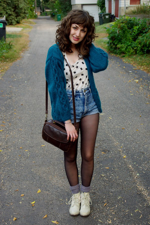 super cozy handmade cardigan - crochet Wanted boots