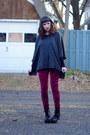 Poncho-forever-21-sweater-romwe-leggings