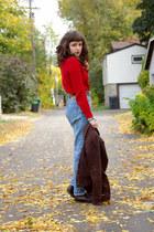 Levis jeans - coudoroy Heritage 1981 jacket - Ralph Lauren sweater
