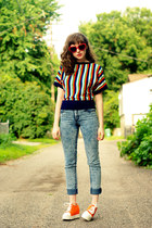 Cheap Monday jeans - striped deadstock vintage shirt