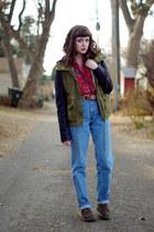 best ever JJ Basics jacket - Doc Marten boots - Levis jeans - suede vintage vest