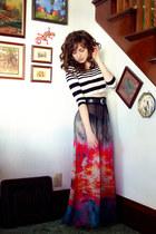 How Very Dare skirt - striped crop Topshop shirt