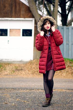 brick red parka Lands End jacket - crimson unknown jumper