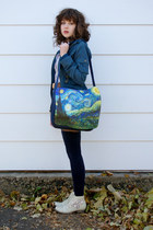 navy unknown bag - eggshell crochet Wanted shoes - teal BB Dakota jacket