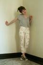 Heather-gray-zara-shirt-eggshell-floral-pimkie-pants