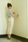 Heather-gray-zara-shirt-eggshell-floral-pimkie-pants