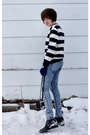 Blue-cheap-monday-jeans-blue-tommy-hilfiger-sweater-black-donald-j-pliner-bo