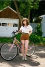 Off-white-vintage-unknown-shirt-dark-brown-vintage-unknown-shorts