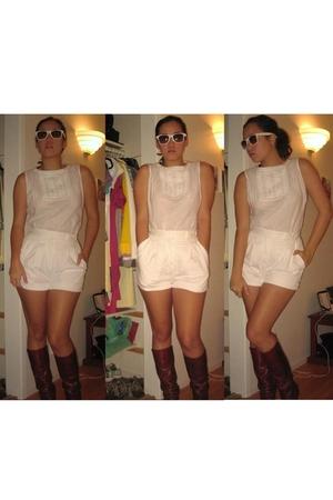 Bottega Veneta boots - white Philosophy top