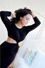 Black-twist-cutout-halston-dress