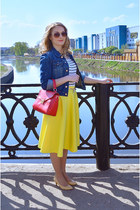 Taobao jacket - Accessorize bag - pull&bear top - asos skirt - Taobao pumps