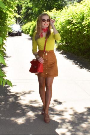 asos boots - BonPrix top - H&M skirt